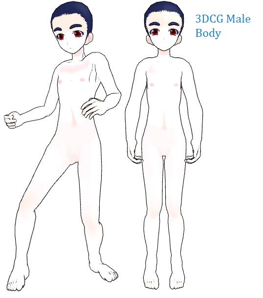 Anime male body base