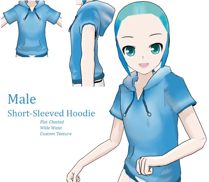 MMD- Male Hoodie -DL by MMDFakewings18 on DeviantArt Anime Female Base With Hoodie