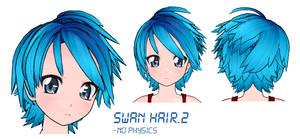 MMD- Swan Hair -DL by MMDFakewings18