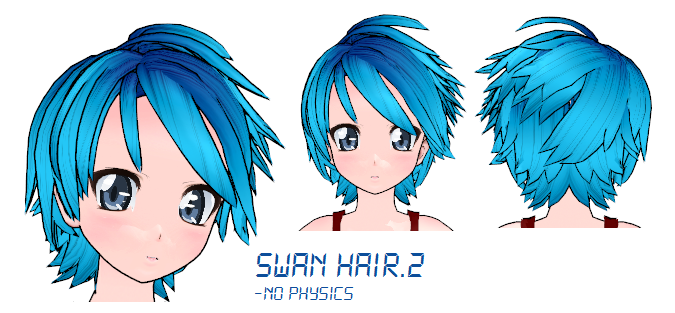 MMD- Swan Hair -DL by MMDFakewings18