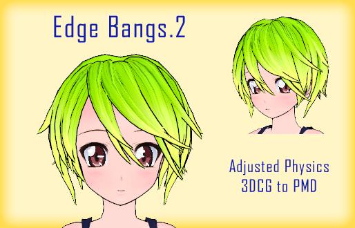 MMD- Edge Bangs.2 -DL by MMDFakewings18