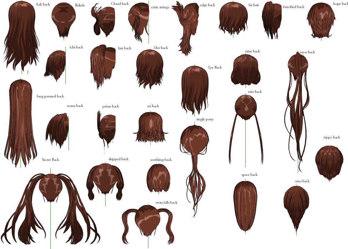 Волосы mmd