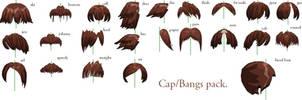 MMD- Bangs-Cap Pack -DL by MMDFakewings18