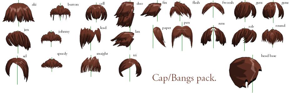 Mmd Bangs Cap Pack Dl By Mmdfakewings18 On Deviantart