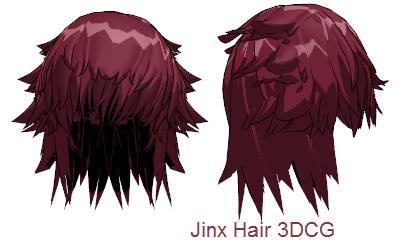 Mmd Jinx Hair By Mmdfakewings18 On Deviantart