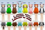 MMD- Animal Snugglie Set -DL