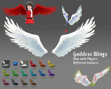 MMD- Goddess Wings.2 -DL