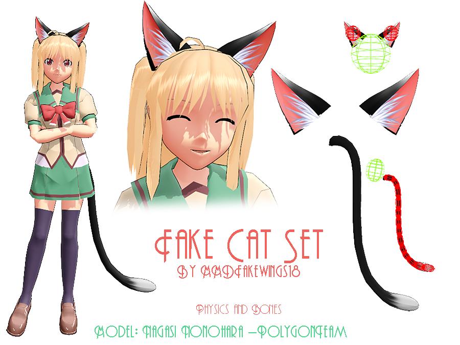 MMD- Fake Cat Ears -DL by MMDFakewings18