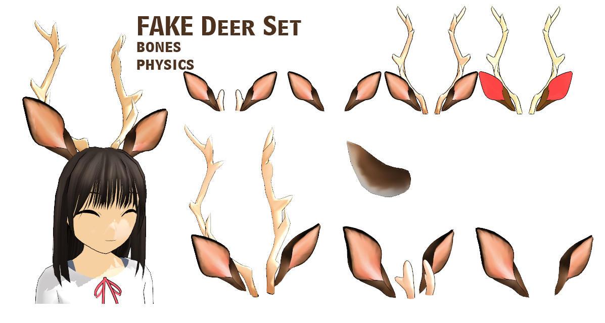 Mmd Fake Deer Set Dl By Mmdfakewings18 On Deviantart