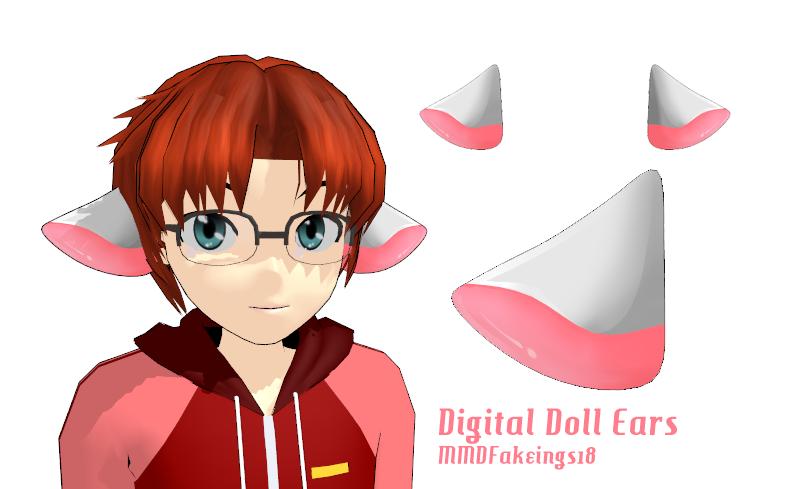 MMD= Digital Doll Ears =DL by MMDFakewings18