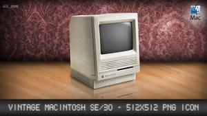 Apple SE30 Vintage Icon by AxlDeLarge