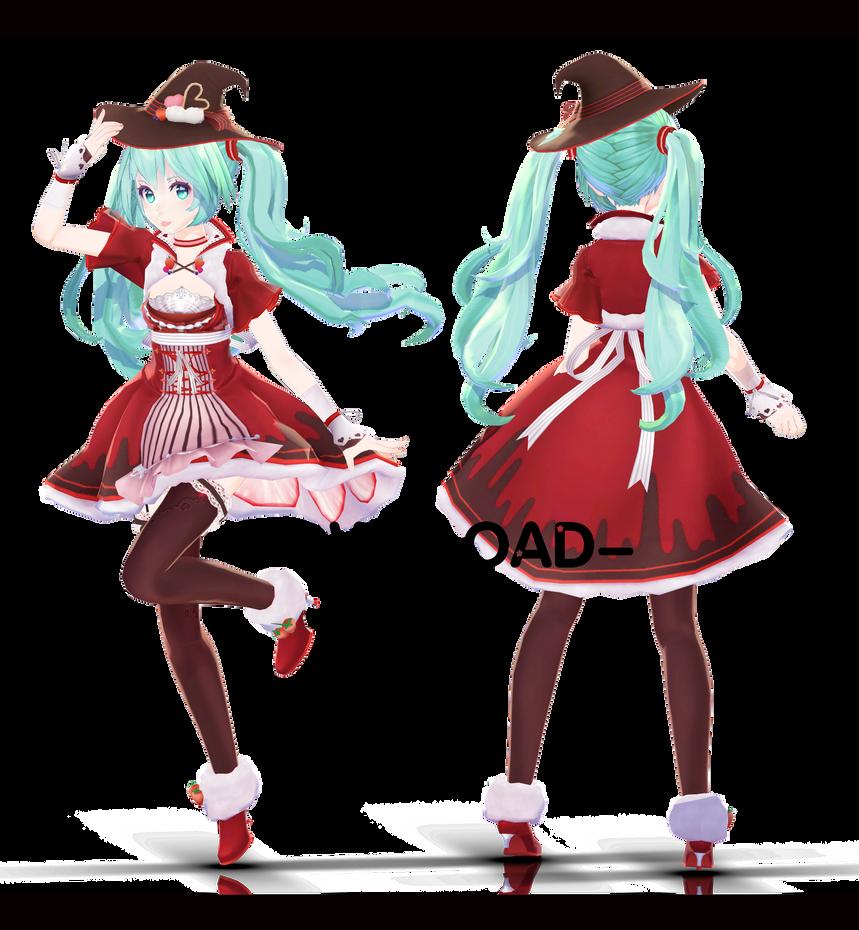 Tda Strawberry Witch Miku by Skykoki