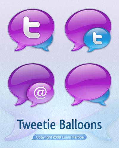Tweetie Balloons by lharboe