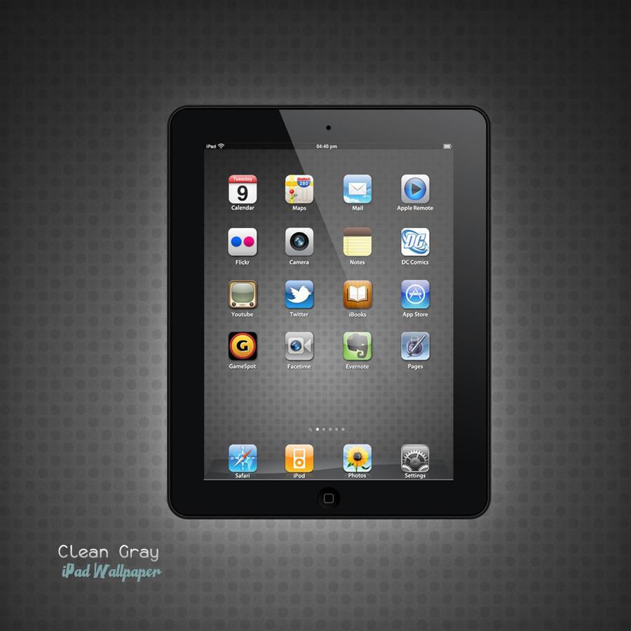 iPad Clean Gray Wallpaper by Martz90