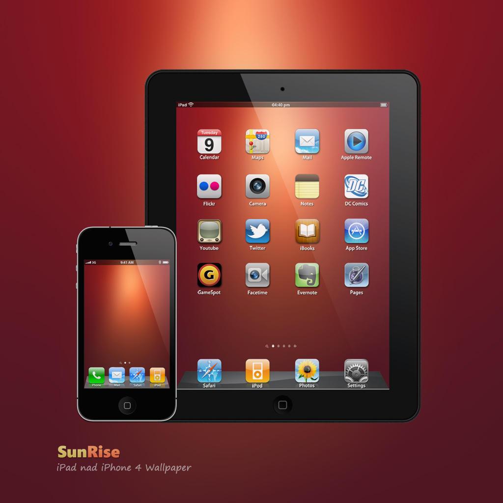 iPad, iPhone SunRise Wallpaper by Martz90