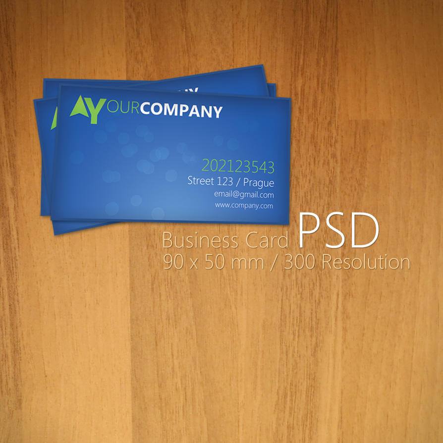 Blue Business Card PSD by Martz90 on DeviantArt