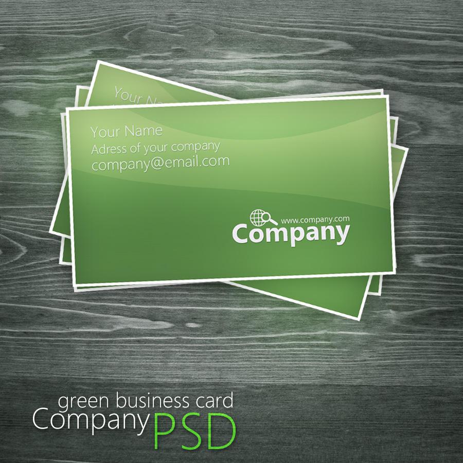 Green Business Card PSD by Martz90