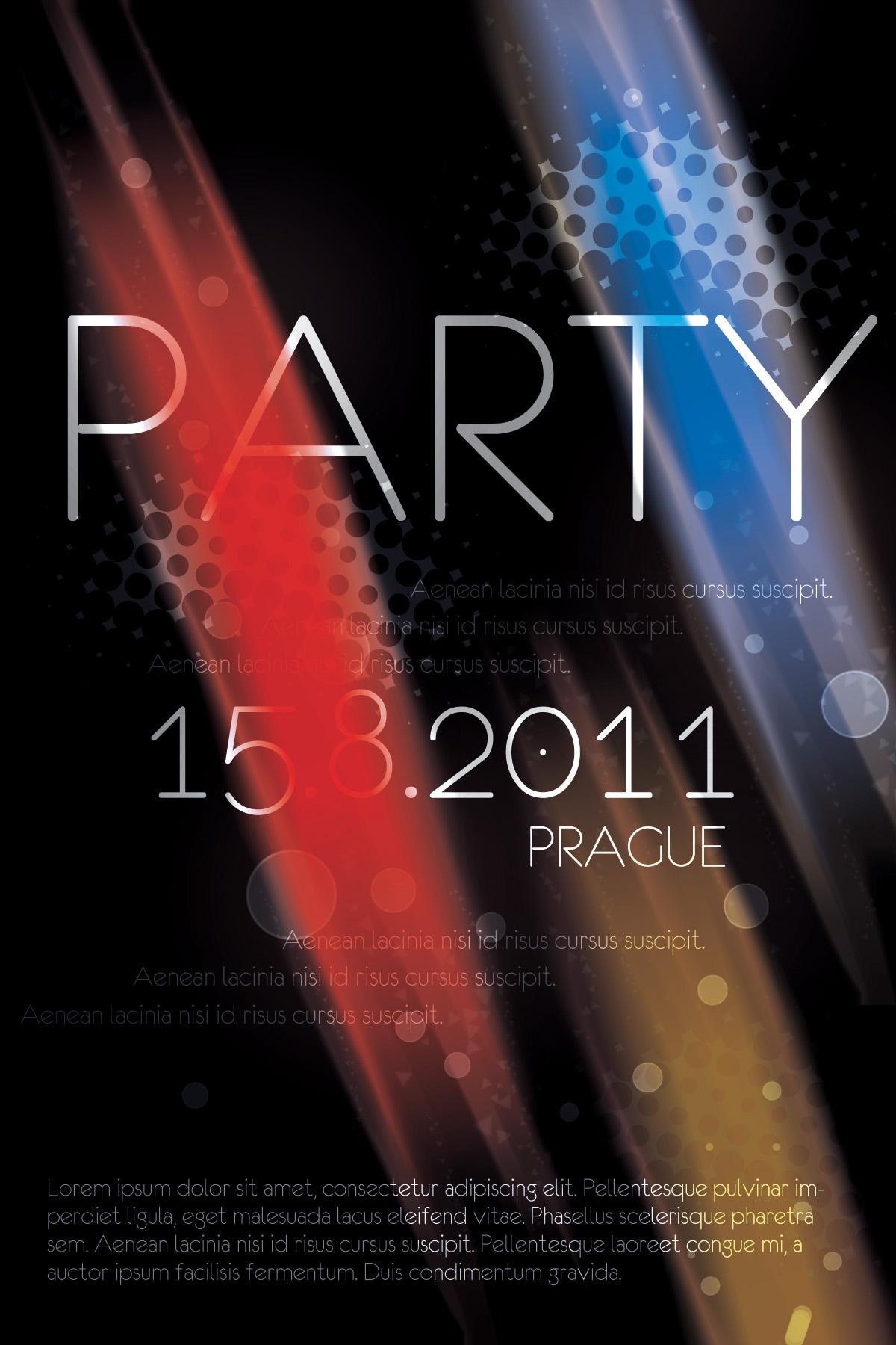 Prague Party Flyer PSD