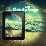 iPad CloudySeaShore Wallpaper
