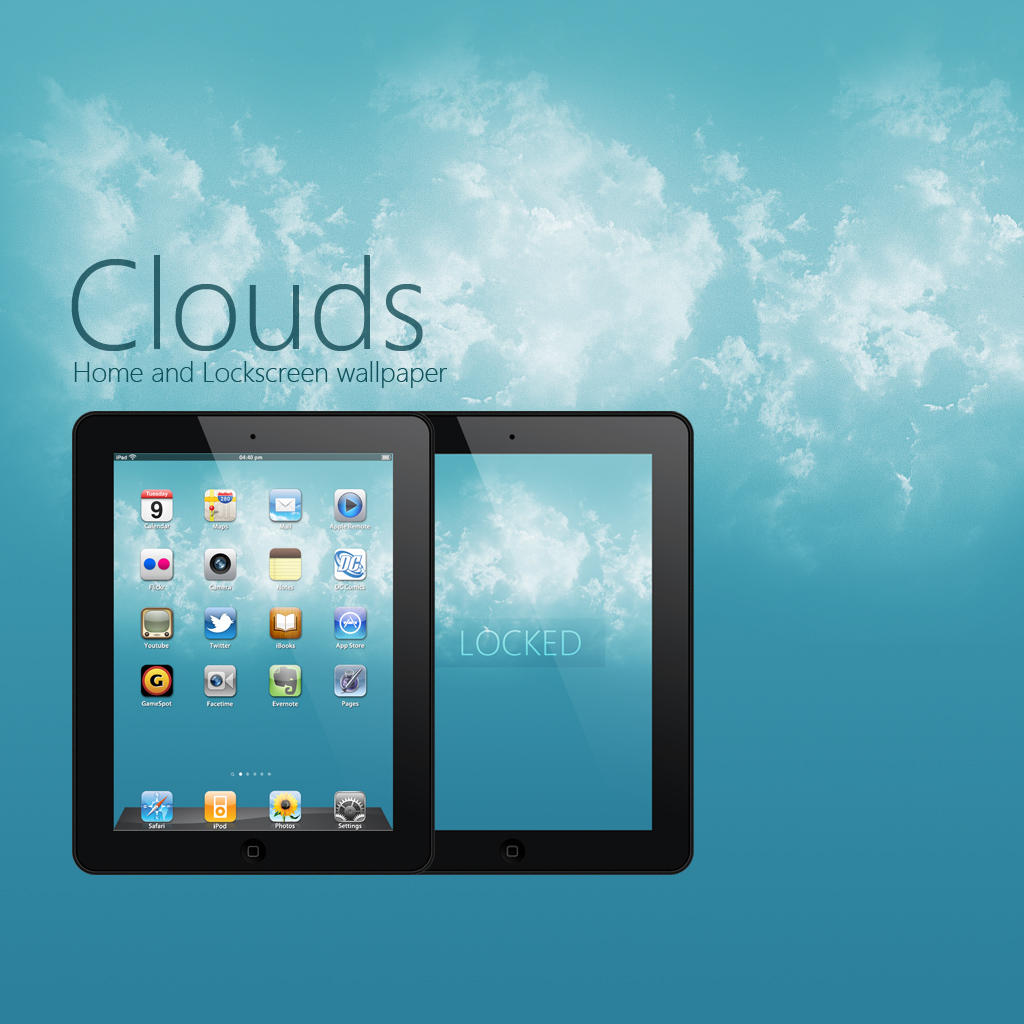 iPad Clouds Wallpaper by Martz90