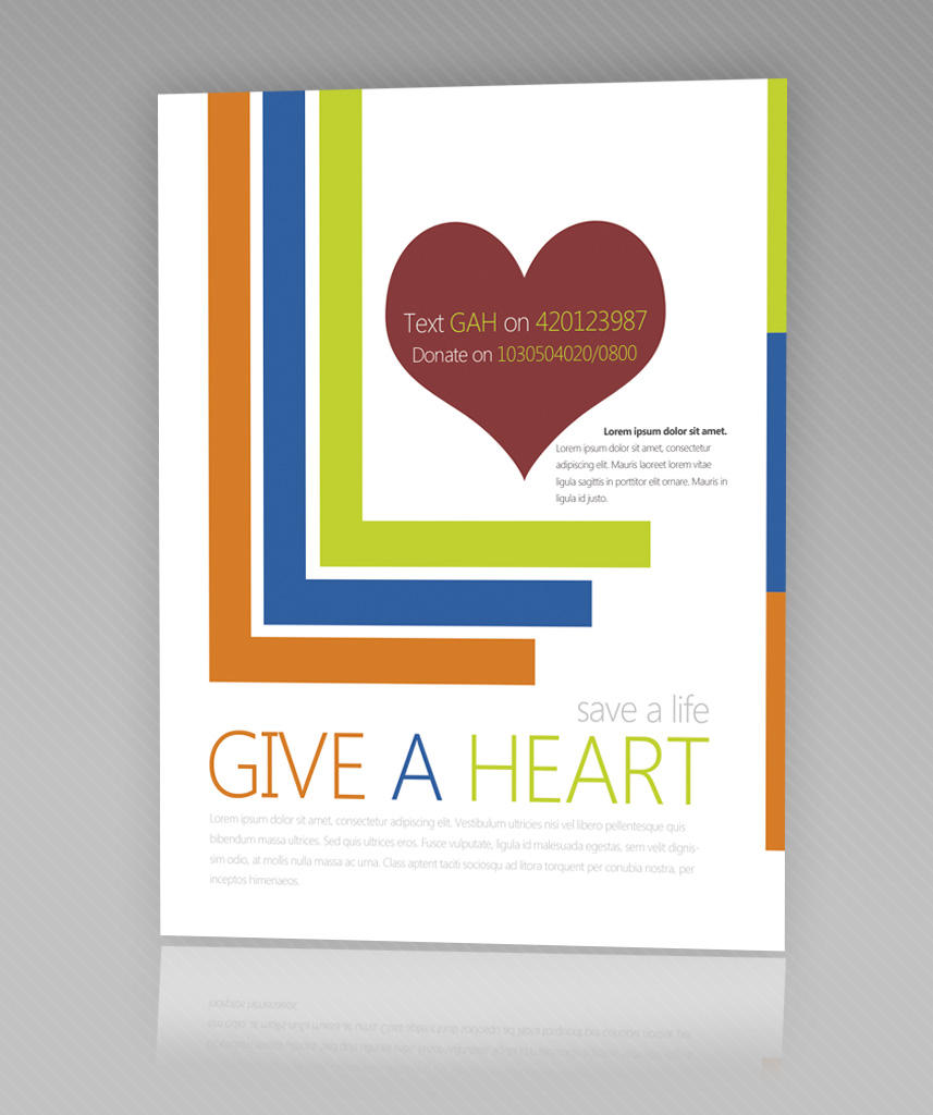 give a heart flyer psd by martz on give a heart flyer psd by martz90