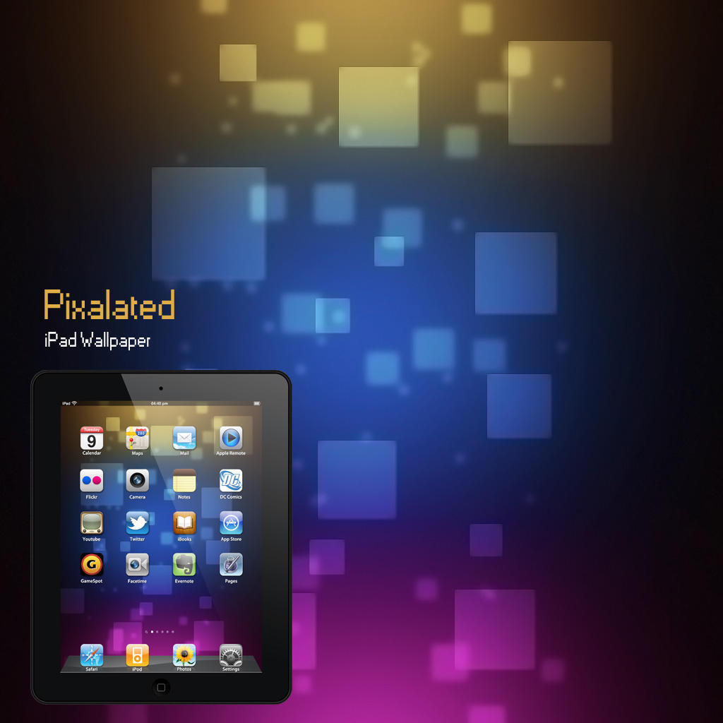 iPad Pixalated Wallpaper by Martz90