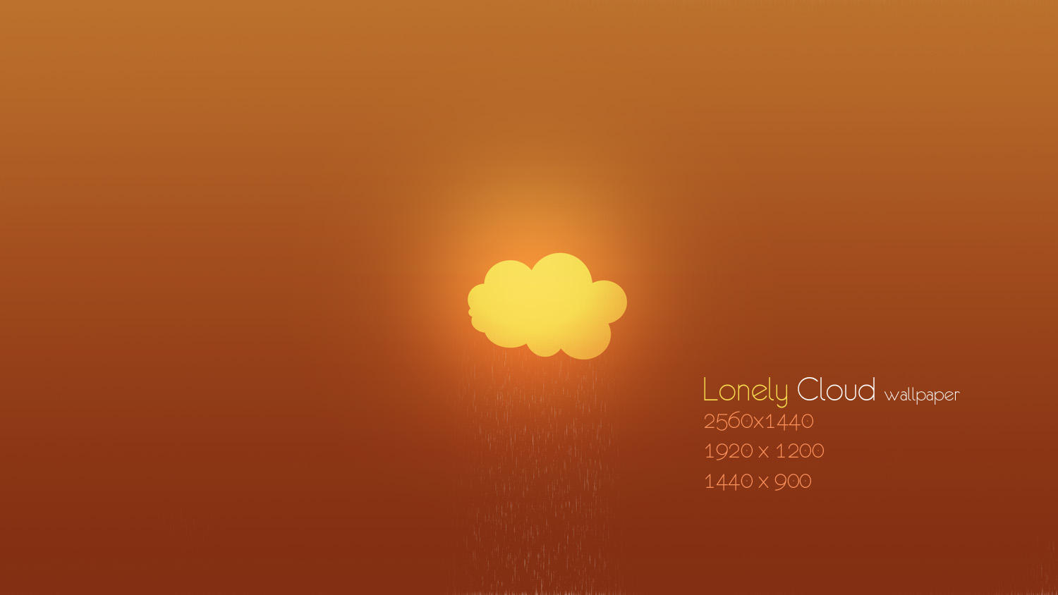 Lonely Cloud Wallpaper by Martz90