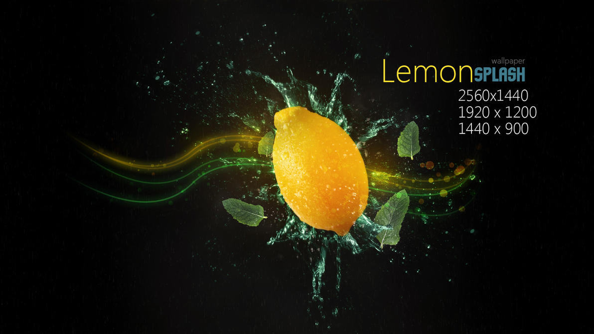 Lemon Splash Wallpaper by Martz90 on deviantART