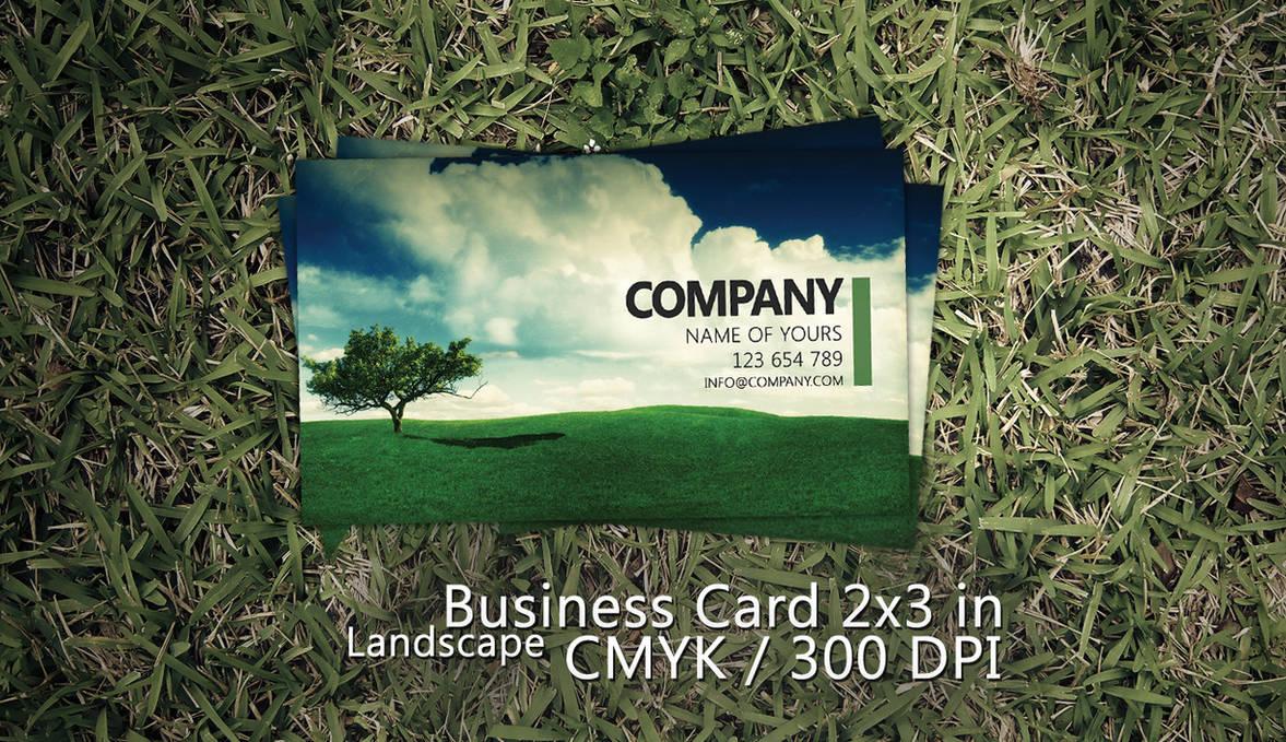 Landscape Business Card PSD by Martz90