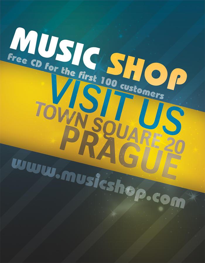 Music Shop Flyer PSD by Martz90
