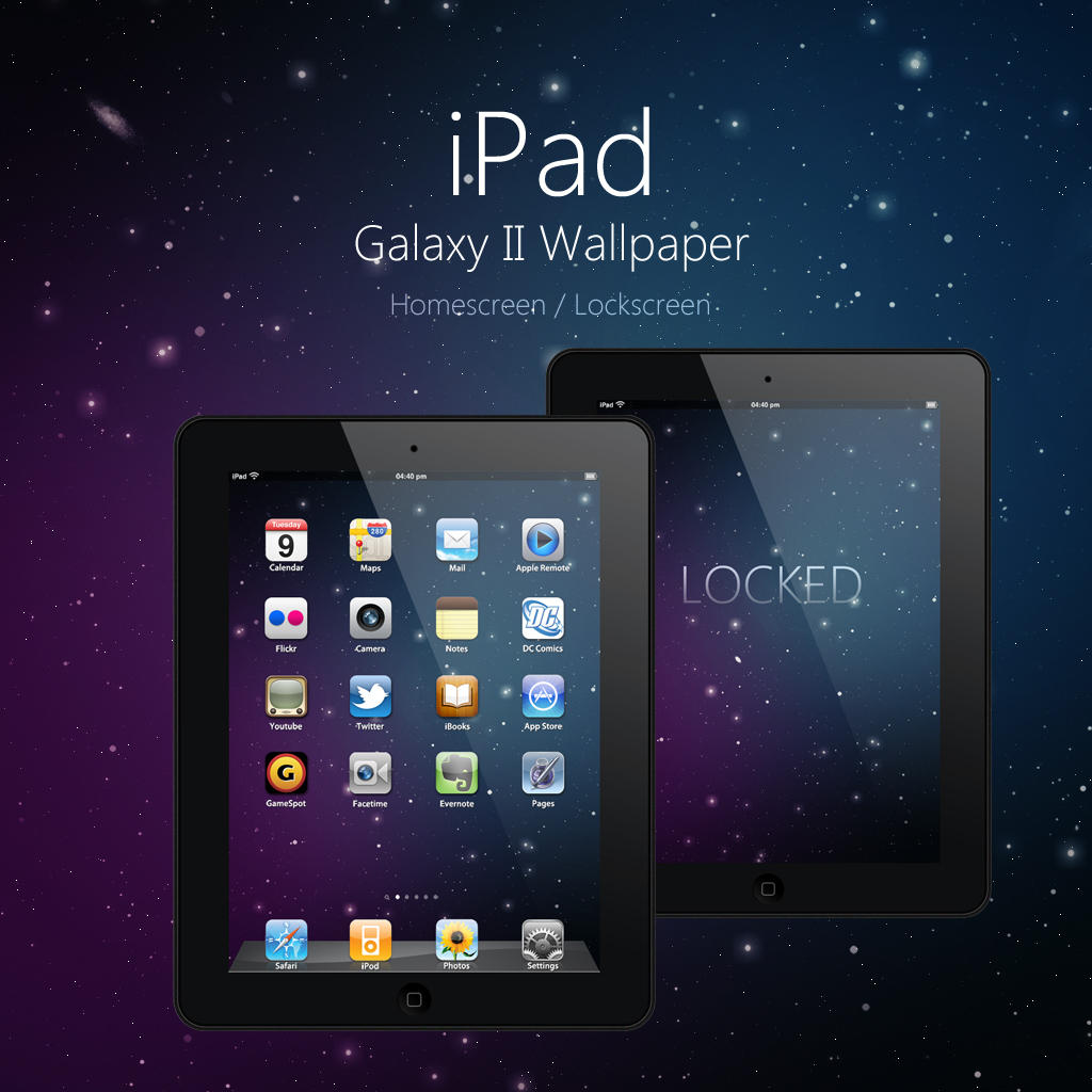 iPad Galaxy II Wallpaper by Martz90