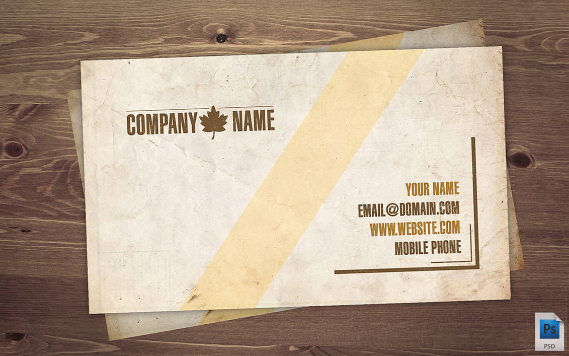Old Business Card PSD by Martz90