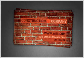 Construction Company Business Card PSD by Martz90