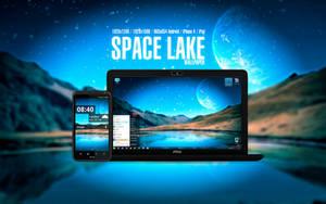 Space Lake Wallpaper by Martz90