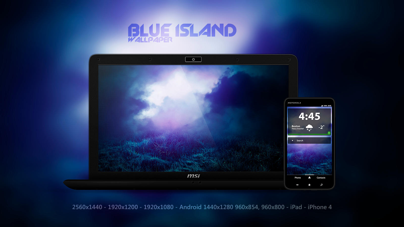 Blue Island Wallpaper by Martz90