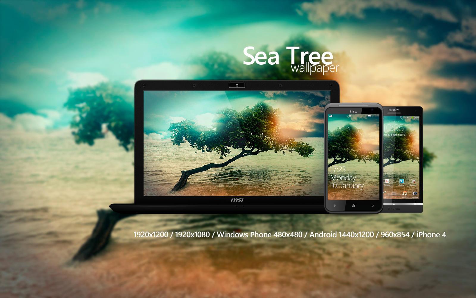 Sea Tree Wallpaper by Martz90