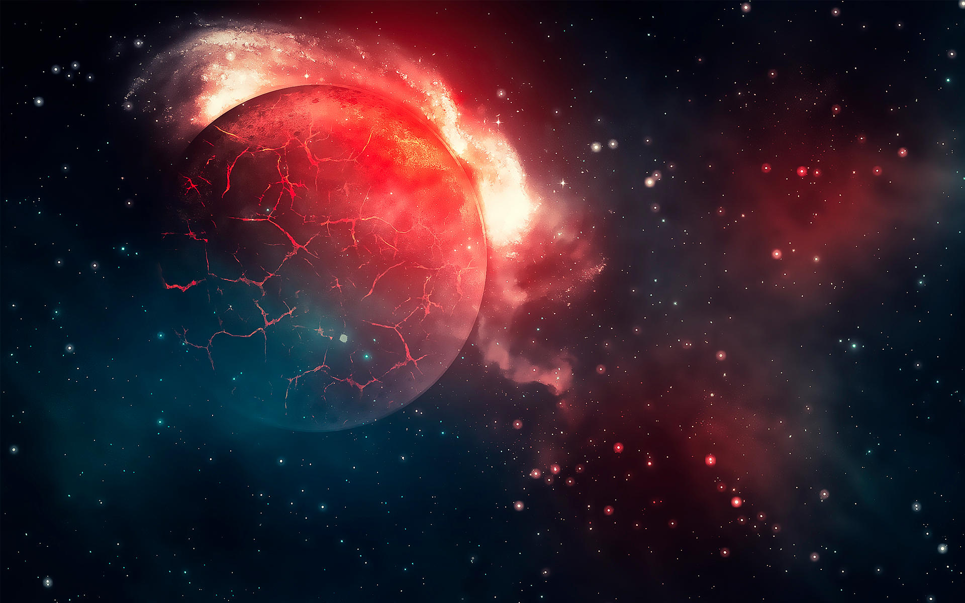 Burning Moon Wallpaper by Martz90