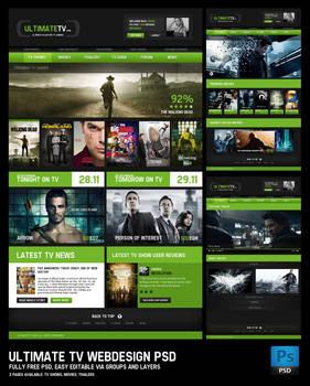Ultimate TV webdesign PSD
