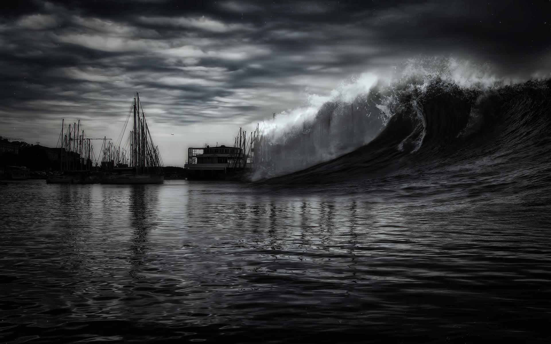Dark Wave Wallpaper by Martz90