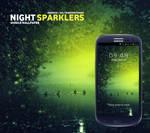 Night Sparklers Mobile Wallpaper