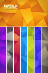 Triangles Mobile Wallpaper Colors Pack by Martz90