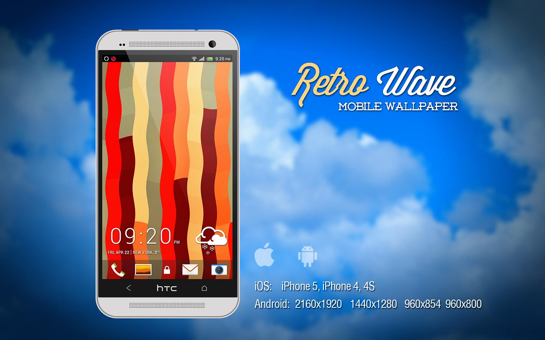 Retro Wave Mobile Wallpaper by Martz90