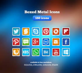 Boxed Metal Icons