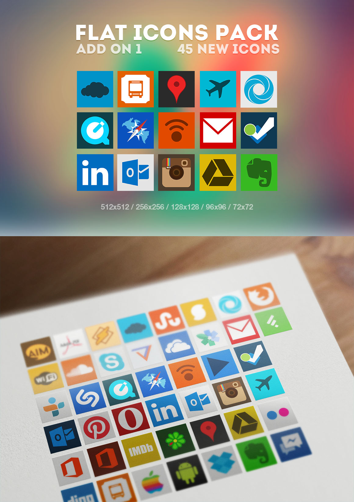 Flat Icons Pack Add on 1 by Martz90