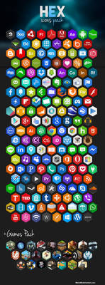Hex Icons Pack by Martz90