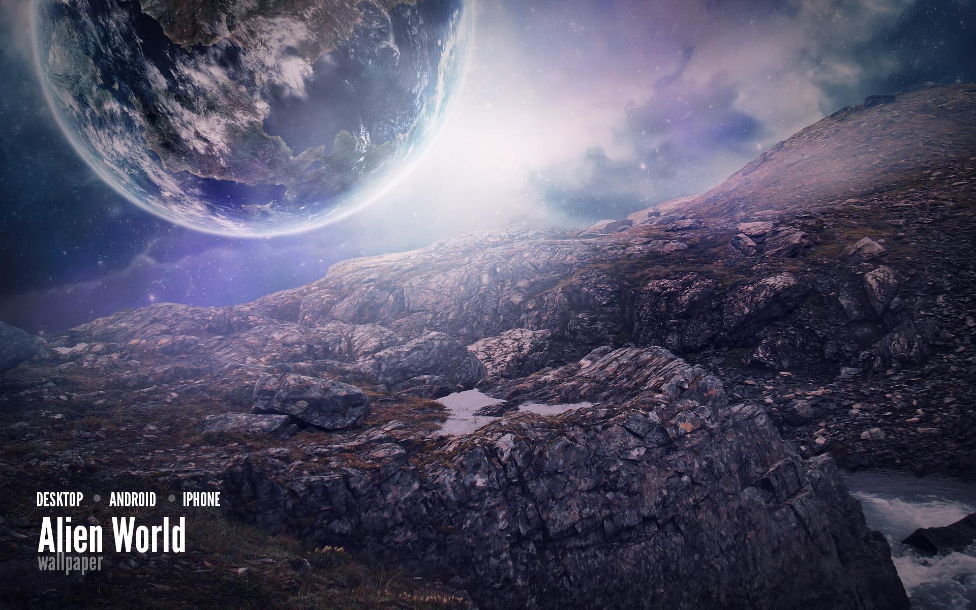 Alien World Wallpaper by Martz90