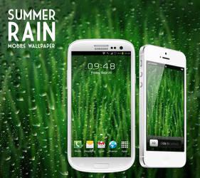 Summer Rain Mobile Wallpaper