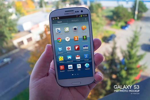 Galaxy S3 Hand Mockup PSD