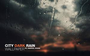 City Dark Rain Wallpaper
