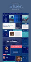 Bluer - Free UI Kit PSD